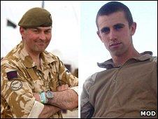 Lt Col Rupert Thorneloe and Joshua Hammond