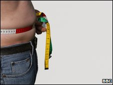 File pic of ban measuring his waist