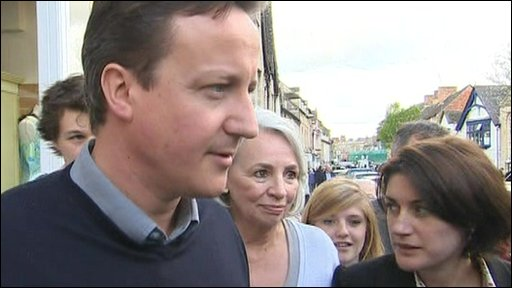 David Cameron in his constituency of Witney, Oxfordshire