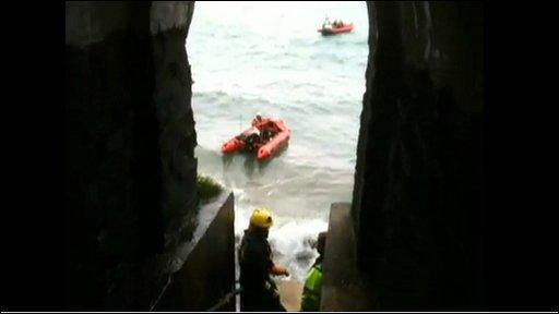 Newquay hotel lift rescue
