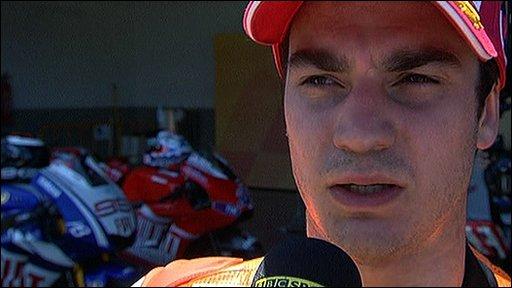 Moto GP driver Dani Pedrosa