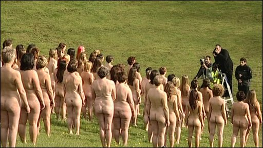 Nudes pose for Spencer Tunick