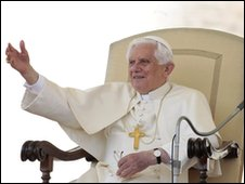 Pope Benedict XVI on 28 April