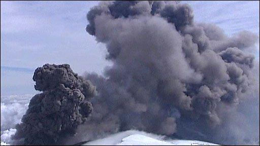 Volcanic ash plume