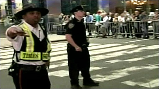 Police seal part of Times Square
