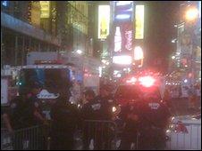 Times Square evacuation. Photo: Teunkie Van der Sluijs