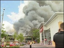 Retail park fire