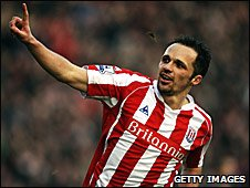 Stoke City winger Matthew Etherington