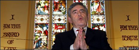 Gordon Brown at the Church of the New Testament in Streatham, south London