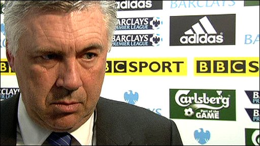 Chelsea boss Carlo Ancelloti