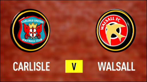 Carlisle 1-1 Walsall