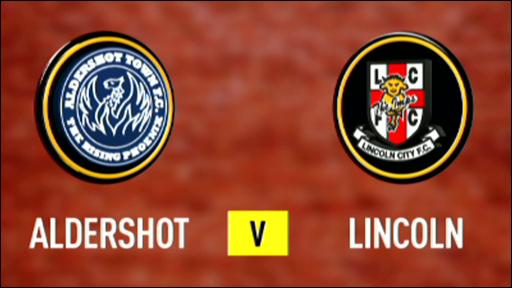 Aldershot 3-1 Lincoln