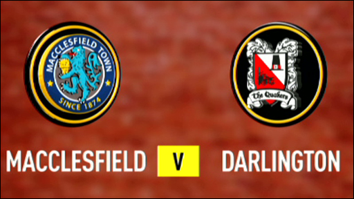 Macclesfield 0-2 Darlington