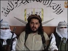 Still from video apparently of Hakimullah Mehsud