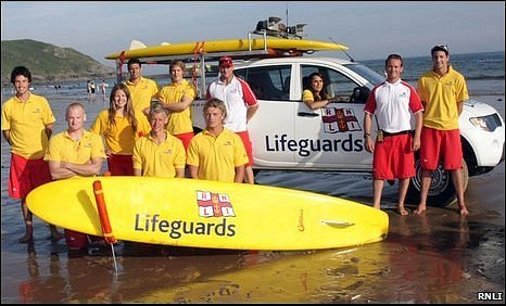 RNLI lifeguards in west Wales
