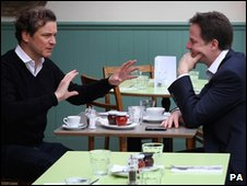 Colin Firth and Nick Clegg