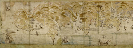 Henry VIII's coastal map of England