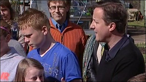 David Cameron in Blackpool