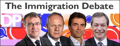 Immigration line-up