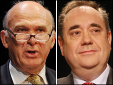 Vince Cable and Alex Salmond