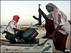 Somali pirates in Hobyo (file photo)