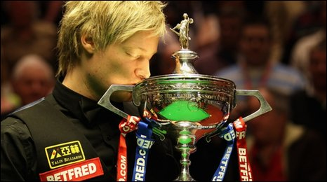 Neil Robertson wins the 2010 World Snooker Championship