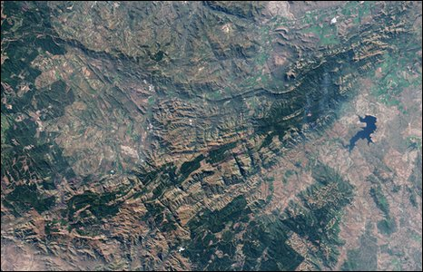 Barberton greenstone belt (Nasa)