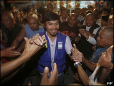 Pacquiao on the campaign trial in the Philippines