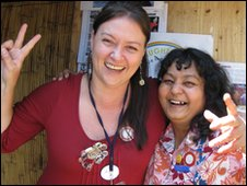 Shilpa Shah (right) and Celina Stockill (left)