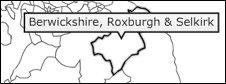 Berwickshire const map