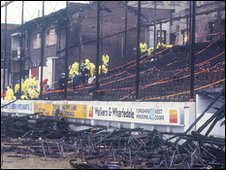 Valley Parade stadium after the May 1985 fire