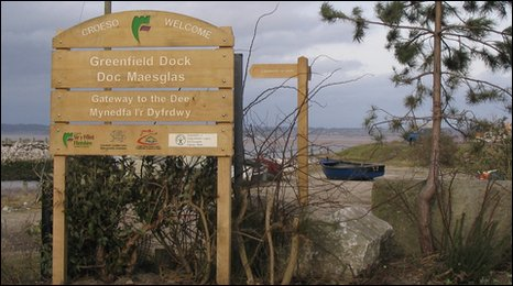 New signage and footpaths have been added to Greenfield Dock