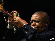 South African jazz giant Hugh Masekela
