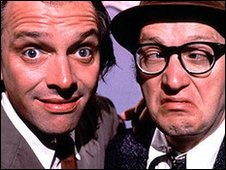 Rik Mayall and Adrian Edmondson