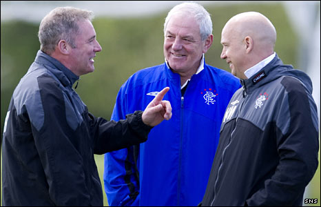 Ally McCoist, Walter Smith and Kenny McDowell