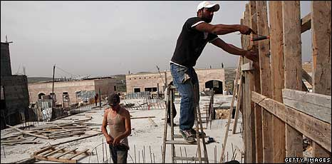 Building work at Ramat Shlomo - 11 March 2010