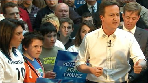 David Cameron at campaign rally