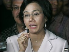 Indonesian Finance Minister Sri Mulyani Indrawati in Jakarta DC (3 May 2010)
