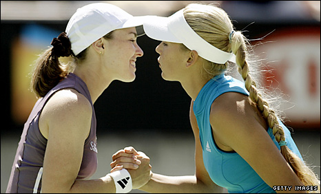 Hingis & Kournikova won two Australian Open doubles titles in 1999 and 2002