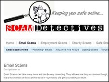 Scam Detectives website