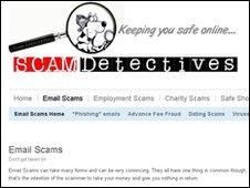 Scam Detectives website