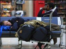 Passengers wait at George Best Belfast City airport