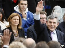 Gordon Brown meets students at Bradford University