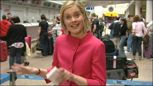 Lorna Gordon at Glasgow Airport