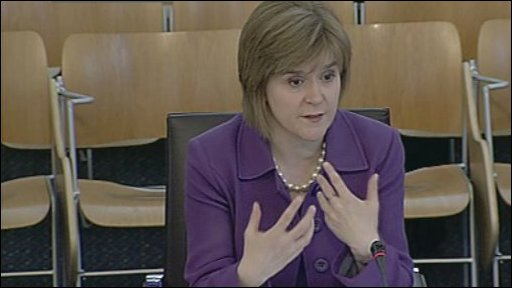 Health Secretary Nicola Sturgeon gave evidence