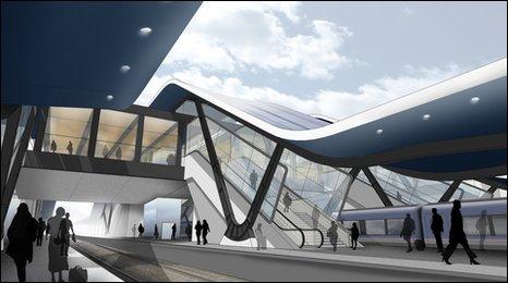 Plans for Reading station.