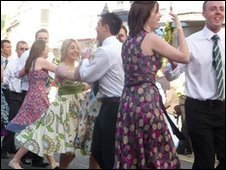 Dancing at Helston Flora Day