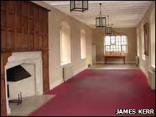 Interior of Long Gallery, Bishop's Palace Ely