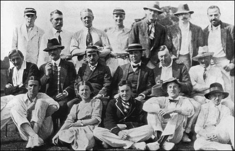 The team at the final Allahakberries game in 1913