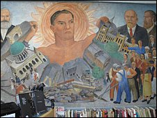 Mural at Marx Memorial Library in London
